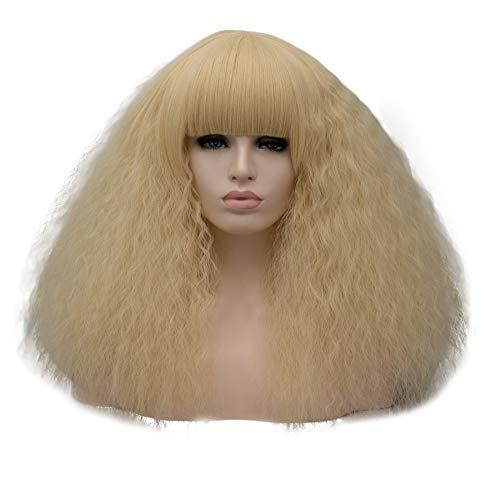 Kurze Verworrenes Lockiges Haar Synthetische Perücken Hitzebeständige Faser Für Halloween Cosplay Schwarz 8 Farben, E ()