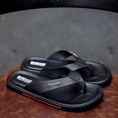 Sandali con tacco Walking Slippers & Estate Comfort PU esterna piani degli uomini sandali US10.5 / EU43 / UK9.5 / CN45