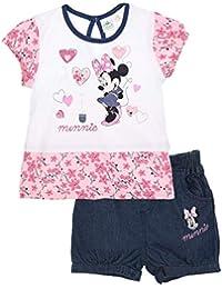 Minnie Ensemble Short et T-Shirt bébé Fille Rose et Marine de 3 à 24mois 7a41ad04f0f