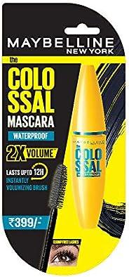 Maybelline New York Volume Express Colossal Masacara, Waterproof, Black, 10 ml