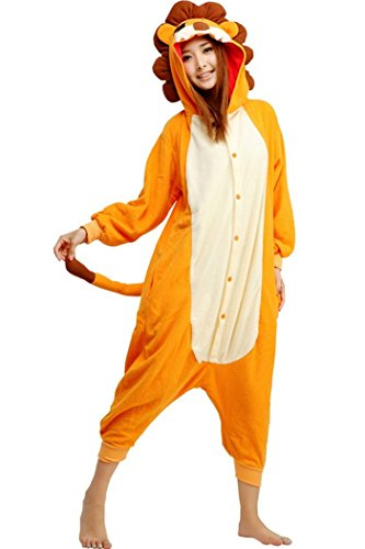 wotogold Damen Tier Lion Pyjamas Cosplay Kostüme XS fit height 51
