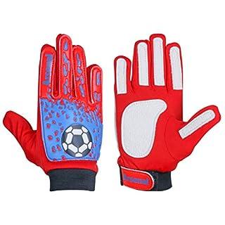 ARSUK Torwarthandschuhe Kinder & Jugendliche, Fußball-Handschuhe, mit Fingersave,Rutschfes, Gewährung von Starken Schutz für Finger Unisex Kinder (Arsenal-Size:06)