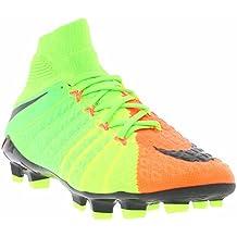 Nike Jr Hypervenom Phantom Iii Df Fg - Botas de fútbol de Material Sintético para niño verde verde/negro