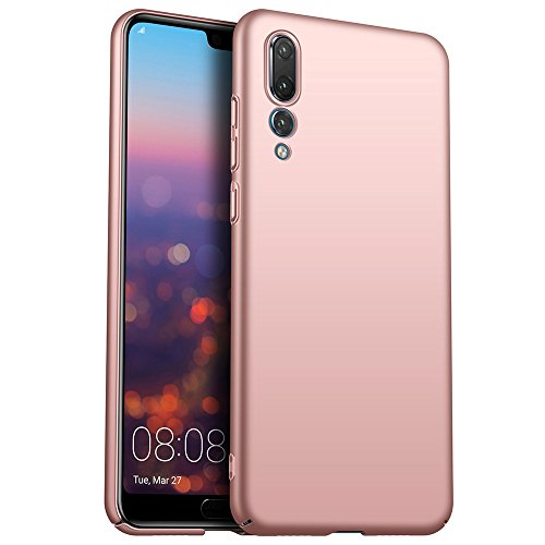 for Huawei P20 Pro Hülle, ZUERCONG [Matte Serie] Ultra Dünn Slim Cover Case Anti-Fingerabdrücke Anti-Scratch Shockproof Handytasche Hartplastik Schutzhülle für Huawei P20 Pro, Glattes Roségold