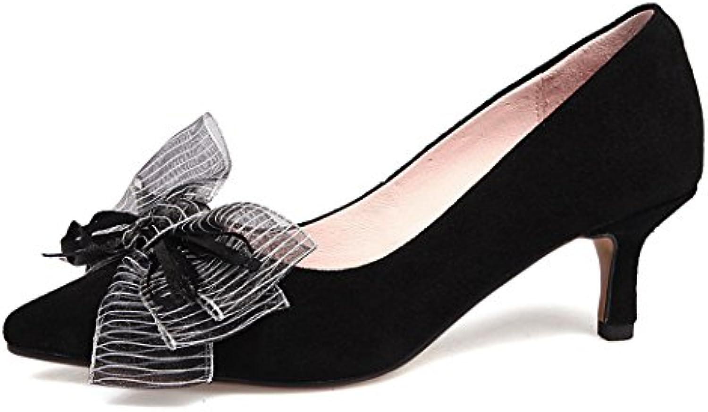 GAOLIXIA Damenschuhe Spitz High Heels Pumps Schöne Bow Stiletto Heels Mode Wild Pendler Arbeit Karriere Schuheö