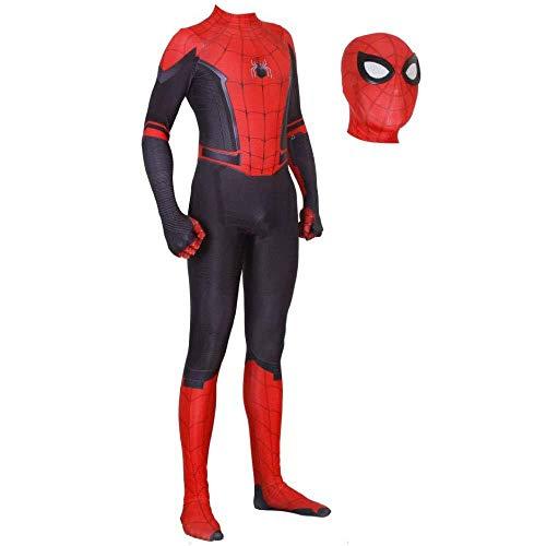 ZHANGQI 3D Spider-Man Cosplay Kostüm Strumpfhose Digitaldruck Spandex Dress Up Realistische Comics - Red Spider Girl Kostüm