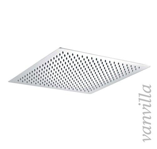 vanvilla Ultra Slim Duschkopf 40cm x 40cm Edelstahl poliert Regenbrause Regendusche PD-S206D