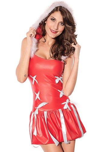 Sexy Santa Kleid Miss Insipiration figurbetontes Kleid Kostüm für Erwachsene Clubwear