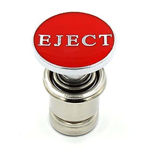 Kei Project Red Eject Ejection Seat Push Button Car Power Plug Cigerette Lighter 12-volt Accessory Fits Most Vehicles by Kei Project