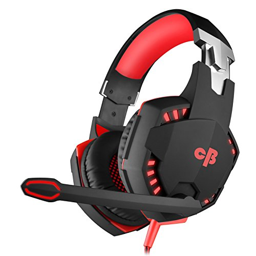 8. Cosmic Byte Kotion Each Over the Ear Headsets with Mic & LED - G2000 Edition (Red, Rubberized Texture)