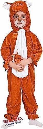 Kostüm Känguru Kleinkind - Fancy Me Italienische Herstellung Kleinkinder Jungen Mädchen australien-Tag Känguru Tier Kostüm Kleid Outfit 12-36 Monate - Braun, 3 Years