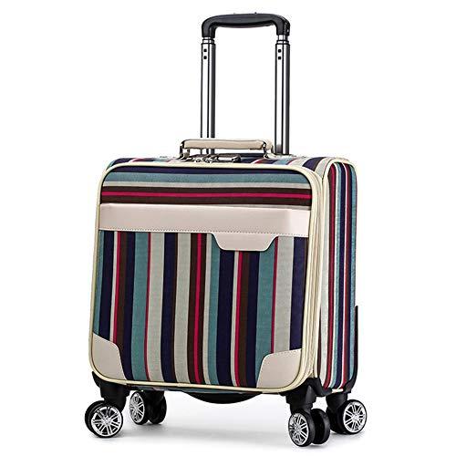 QIUDAN Business Trolley, Leichter, wasserdichter, rollender Laptop-Koffer für das Gepäck/Boarding/Koffer eines Reisebüro-Studenten, 18 Zoll-2 -