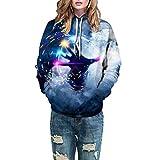 Amuster Unisex 3D Druck Hoodie Kapuzenpullover Langarm Sweatshirt Kapuzenjacke mit Taschen Langarm Casual Sweatshirt für Herren und Damen S/M,L/XL,2XL/3XL