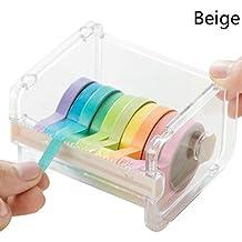 Metacrilato. Decorativo decorativo japonés Washi, cinta adhesiva/cortadora de cinta transparente de escritorio con dispensador