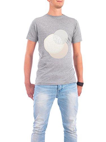 "Design T-Shirt Männer Continental Cotton ""Blush Circles"" - stylisches Shirt Abstrakt Geometrie Fashion von Paper Pixel Print Grau"