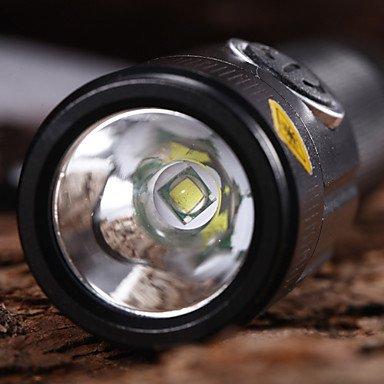 WQQ T11 Wiederaufladbare 5-Mode 1xCree XM-L T6 Wasserdichte Fahrradbeleuchtung (1x18650, 1200LM) Schwarz von wexe bei Outdoor Shop