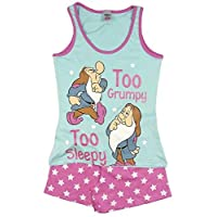 TDP PJ Ladies Character Pyjamas Choose From Super Woman Tinkerbell Eeyore Marvel Heroes Minnie Mouse (12-14 Ladies, Snow White and The Seven Dwarves Shortie)
