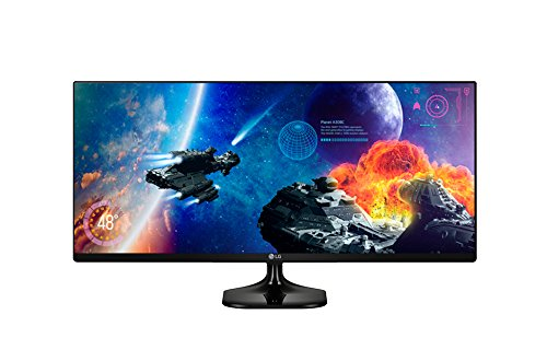 "LG 25UM58-P - Monitor LED de 25"" (UltraWide 21:9, Dual link-up), color negro"