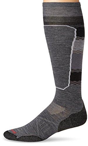 Smartwool Herren Socken PHD Le Ptrn Ski Socken XL Mittelgrau (Ski-socken-xl Smartwool)