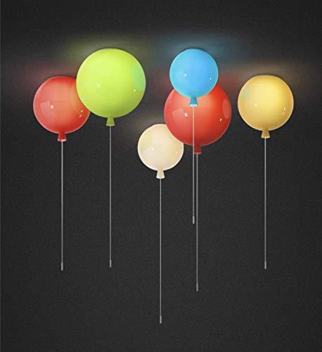 5 Light 25 Kronleuchter (LIUNIAN Bunte Ballon-Deckenleuchte Einfache moderne Deckenleuchte, Kinderzimmer-Deko-Kronleuchter für Jungen, 25cm Durchmesser, mit 5W-Glühlampe)