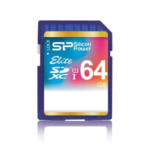 Silicon Power SP064GBSDXAU1V10 SDHC 64GB Speicherkarte
