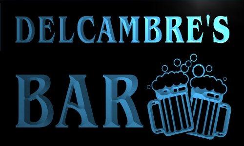 w020447-b DELCAMBRE'S Nom Accueil Bar Pub Beer Mugs Cheers Neon Sign Biere Enseigne Lumineuse