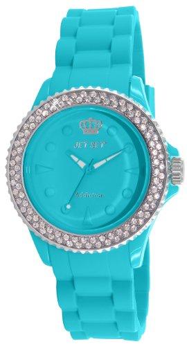 Jet Set - J18934-07 - Addiction 2 - Montre Femme - Quartz Analogique - Cadran Turquoise - Bracelet Caoutchouc Turquoise