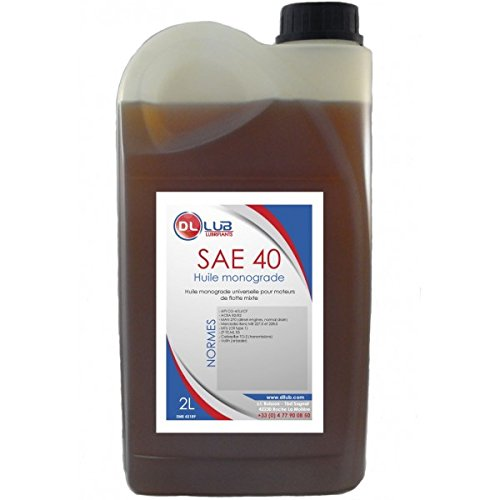 DLLUB – HUILE MONOGRADE SAE 40 – 2 litres pas cher
