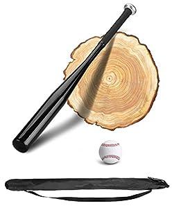 PLUSINNO 28 Zoll Baseballschläger mit Baseball (Schwarz)