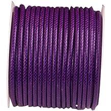 (2mm) 32ft Rotonda Corda in pelle Cord Cord Spool per bracciale collana Making - A