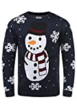 SHINE Original Pingo Herren Weihnachtspullover Winter Pullover Strickpullover Weihnachtspulli mit Rundhals-Ausschnitt, Größe:XXL, Farbe:Dark Blue