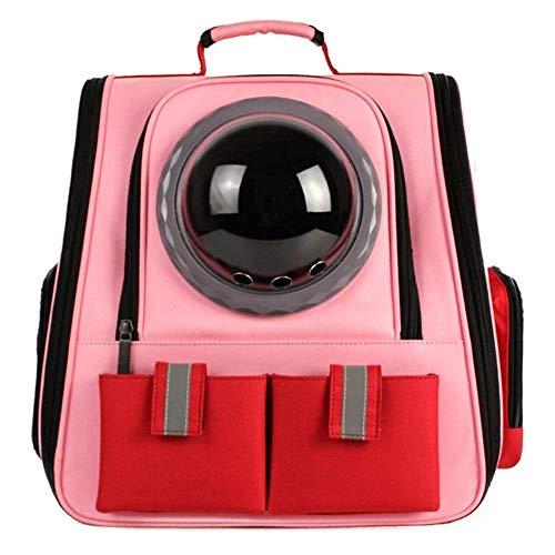 MAOSHE Große Raumkapsel Rucksack atmungsaktiv Pet Carrier tragbare Katze Hund Welpen Reisetasche, Pet Canvas Bubble Backpack (Color : C)