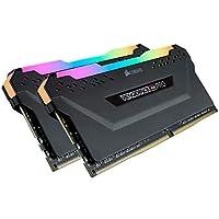 ذاكرة تخزين جهاز كمبيوتر مكتبي بالوان الفضاء اللوني ار جي بي من كورسير فينجانس بسعة 16 جيجابايت (2 × 8 جيجابايت) من النوع دي دي ار 4 وتردد 2666 ميجاهرتز سي 16 - لون اسود
