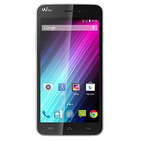 Wiko Lenny Dual-SIM Smartphone (5 Zoll (12,7 cm) Touch-Display, 4 GB Speicher, Android 4.4) weiß
