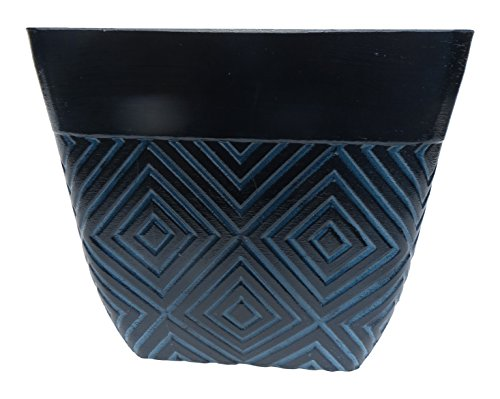 Anglo Eastern Trading SL6029-TTB Mosaic Square Planter - Two Tone Blue