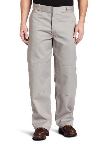 Dickies Streetwear Male Pants Double-Knee Work, Pantalon de Sport Homme Gris (Silver Grey)