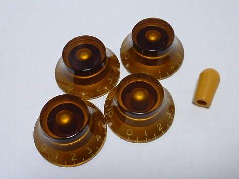 (Fabriqu? au Japon)High Quality Cloche Bouton de contr?le,Printed,ambre,inch,Set