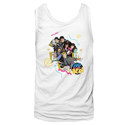 Saved By The Bell - Herrenpastell Tank Top White