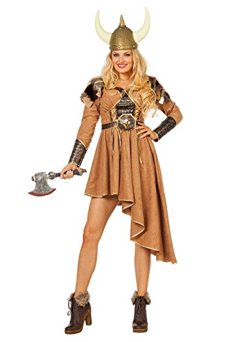 Wilbers 4603 Wikinger Kostüm Damen Vikings Seefahrer Damenkostüm erhältlich auch in großen Größen (Kostüm Viking Kostüm)