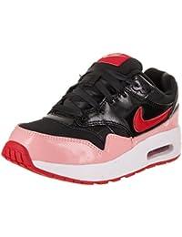 promo code 9c0fa 0ea62 Nike Fille Air Max 1 QS (PS) Running Shoe 1 US Noir Rouge