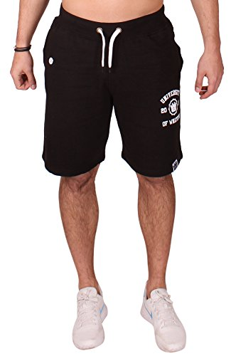 Uni of Whatever Herren Sweat shorts Schwarz 2XL Fleece Casual Jersey (Hose & Fitch Abercrombie)