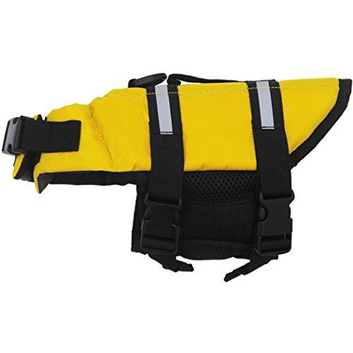 Schwimmweste Hund, Legendog Hundeschwimmweste Badeanzüge Pet Safety Badeanzug für Hund(Gelb, XS, 3-7 (Chihuahua Badeanzug)