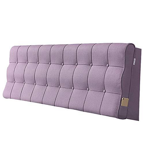 LXLIGHTS Kopfkissen Mit Bettkeil Kissen Doppelbett Aus Massivem Holz Gepolstert Waschbar, 5 Farben 7 Größen (Color : Purple, Size : No headboard-190cm)