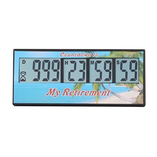 AIMILAR Digitaler Countdown-Tage-Timer, 999 Tage Countdown-Timer für Labor, Küche, Ruhestand, Hochzeit, Kinder-Geschenk Retirement