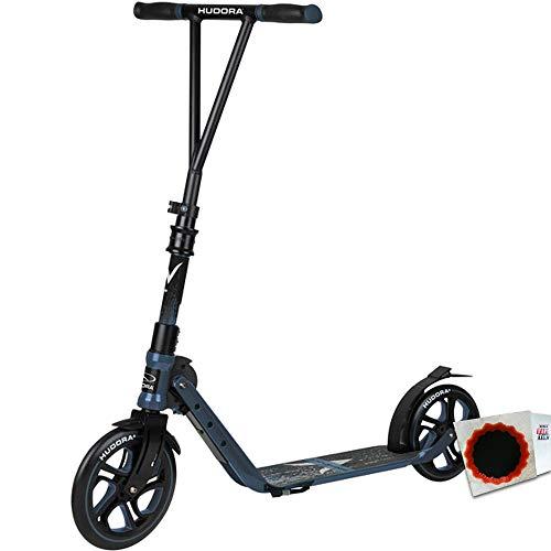 HUDORA City Scooter Big Wheel V 230 faltbar vorn 230mm hinten 215mm +Flicken