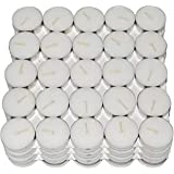Jamboree 50 Pcs Pack Of Tea Light Candles Smokeless Candle (White, Pack Of 50)