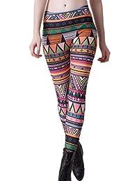 Antemi - Femmes - Legging femme motif ethnique et géométrique - Multicolore