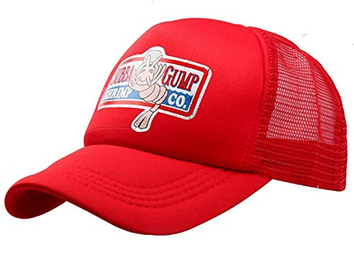 Baseballcap Rot Drucken Hut Snapback Trucker Cap Cosplay Kostüme Zubehör (One Size(58-60cm), A-Gunm Kappe-Rot 1) ()