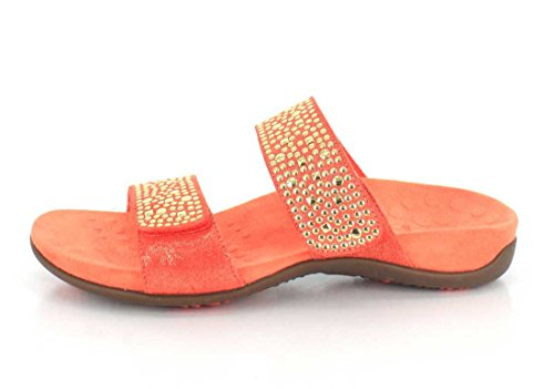 Vionic Womens 341 Samoa Rest Leather Sandals Coral