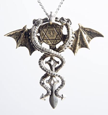 Sacred Dragon for Psychic Protection Amulet Pendant Necklace - Forbidden Charms Collection